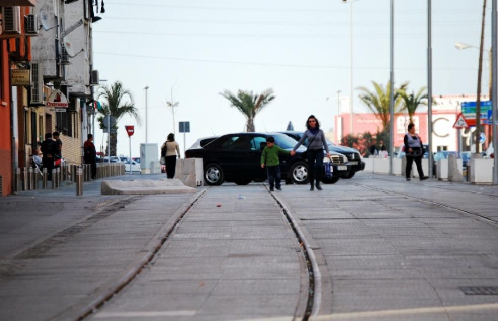 Vías del futuro tranvía de Alcalá de Guadaira